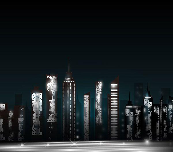 schizzo di edifici della città