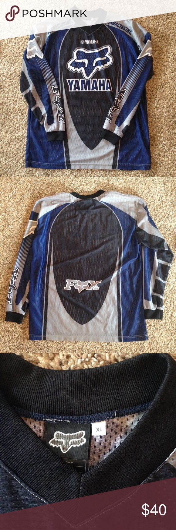 Yamaha Fox Racing Jersey Like new, no rips, tears or stains. Fox Shirts Tees - Long Sleeve