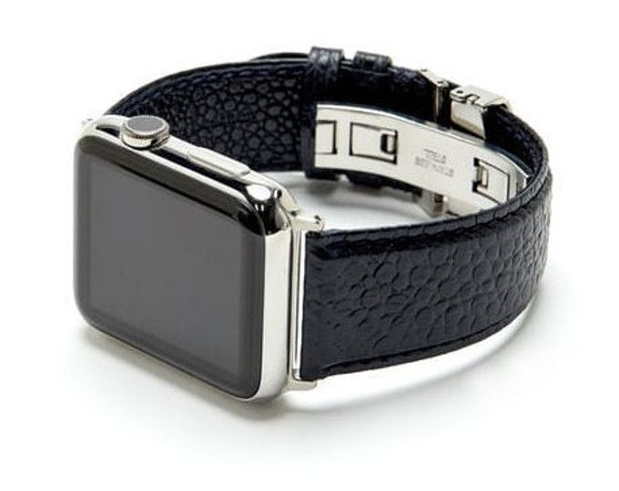 SONAMU is a handcrafted leather goods brand that inspires elegance and comfort in everyday life ● Made of Genuine Italian Caviar leather often used in high-end designer fashion items ● Automatic stainless steel clasp ensure easy lock & take with multiple alternative holes for adjustable length ● Simple and clean design to make your apple watch more elegant and classic ● Compatible with 42MM Apple Watch / Sport/ Edition ONLY ** APPLE WATCH NOT INCLUDED** Shipping Information ● Delivery…