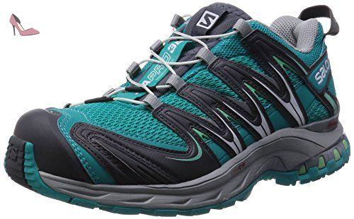 Salomon  XA Pro 3D, Chaussures de trekking et randonnée femme - Turquoise - Türkis (Teal Blue F/Dark Cloud/Lucite Green), 38 - Chaussures salomon (*Partner-Link)