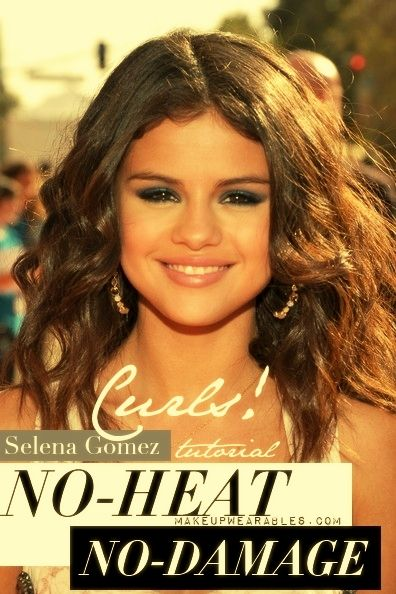 Selena Gomez Relaxed Waves Tutorial   No-Heat Curls Hairstyles