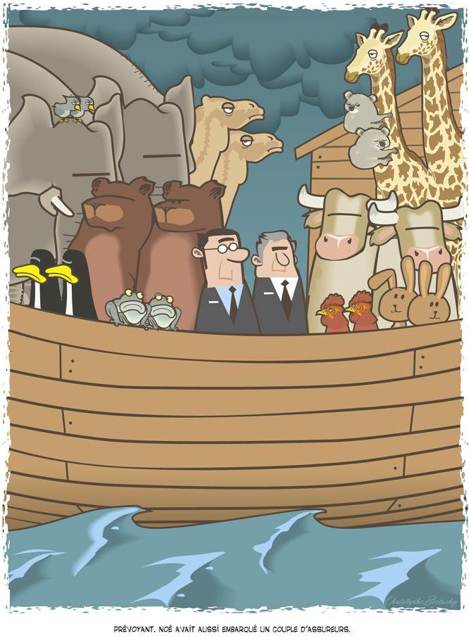 Prévoyant, Noé avait aussi embarqué un couple d'assureurs. © Christophe Bertschy