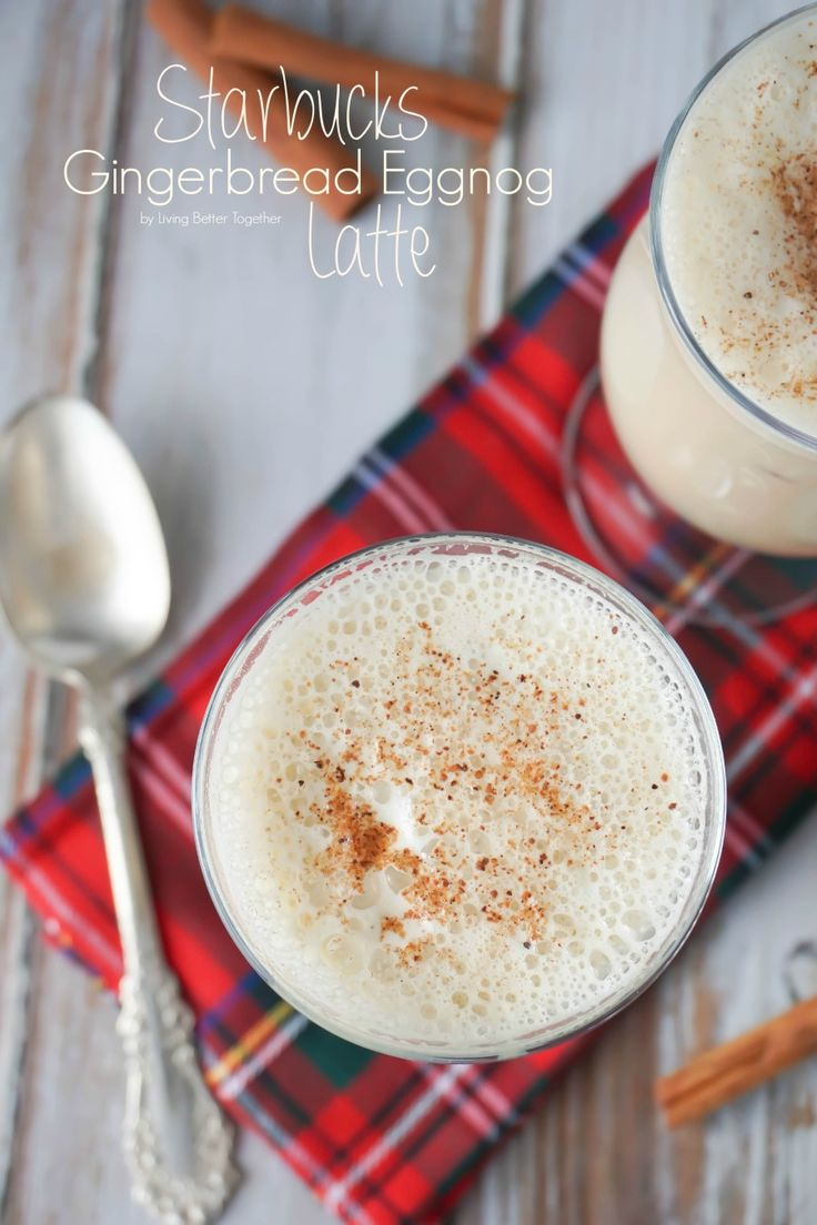 The flavors of winter come together in this Gingerbread Eggnog Latte, a homemade take on my favorite Starbucks beverage.