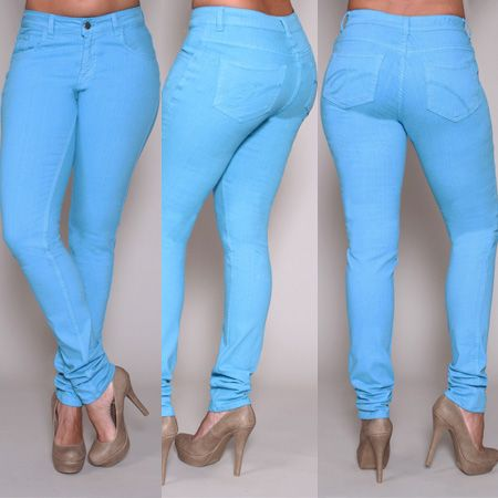 PZI Jeans.....for the ladies blessed with hips and thighs! ❤ the color too!