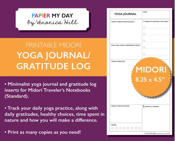 Midori Traveler's Notebook Yoga Journal  MTN Yoga by PapierMyDay