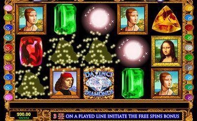 You can play slot Davinci Diamonds