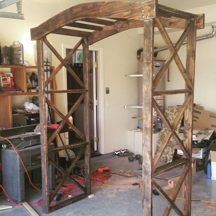 More progress of the wedding arbor #woodworking #diy #dowoodworking #rustic #rusticwedding #rusticarbor by dad32509