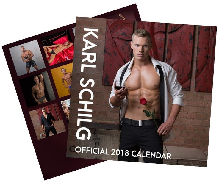 Karl Schilg's Official 2018 Calendar Is Now Available For His Fans to Book Their Calendar