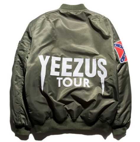 Yeezus Tour MA-1 Alpha Flight Bomber Jacket
