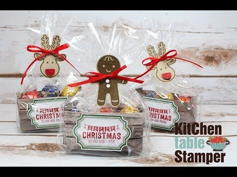 How to make a Cookie Cutter Christmas Crate Tutorial LIVE with Kitchen Table Stamper - YouTube
