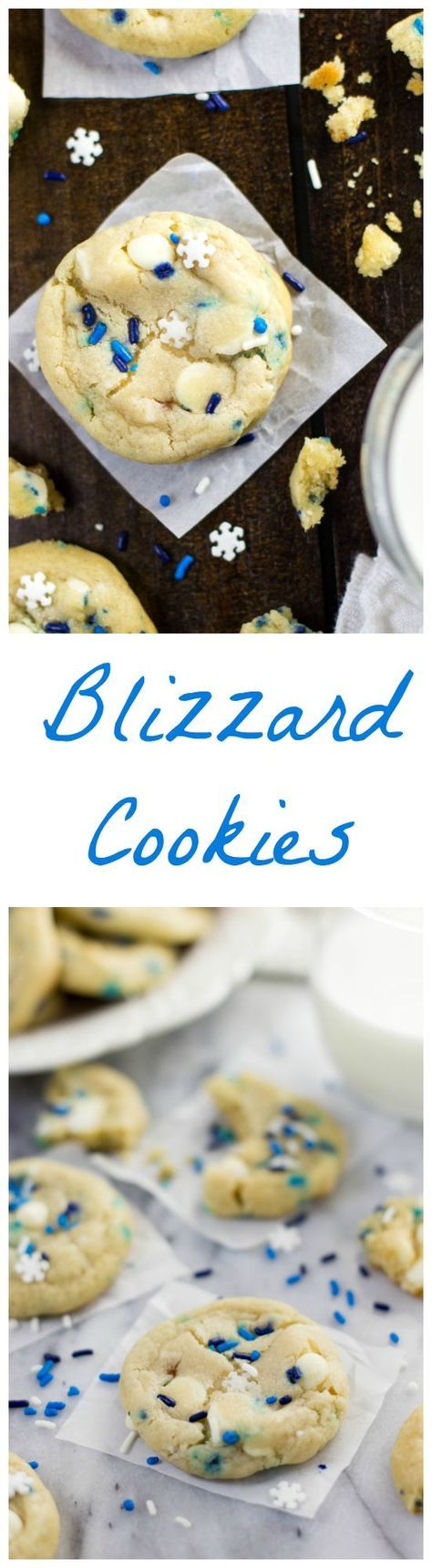 Blizzard Cookies -- Funfetti Cookies made with cream cheese and butter -- www.SugarSpunRun.com
