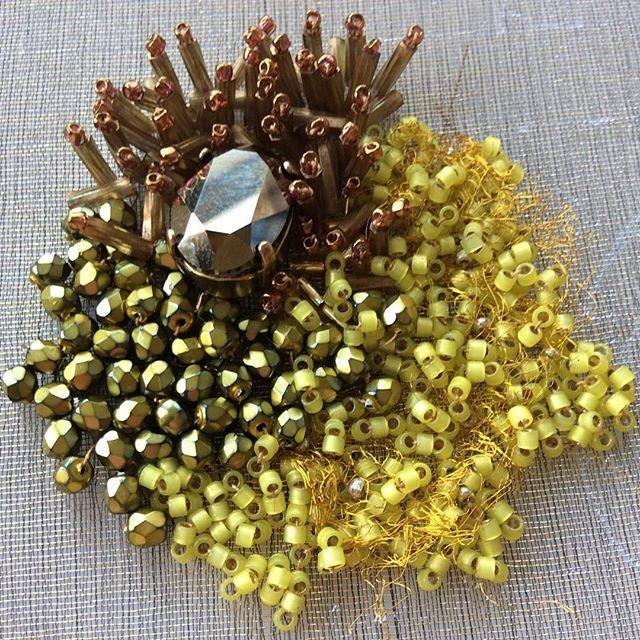 Recherches. #creation #cuff #premium #luxury #hautecouture #handembroidery #Lesage #art #Paris #France #patience #minutiae #detail #precision #meticulous #original #exclusive #rare #handcrafted #unique #sparkling #colors #beads #miyuki #swarovski #craftsmanship #French #wedding #couture
