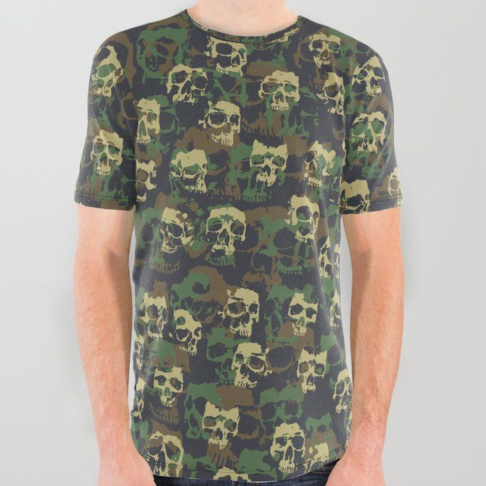 c3b0fb1f Buy Skull Camo WOODLAND All Over Graphic Tee by grandeduc. skull, skulls,  goth