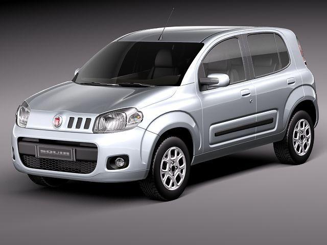 Fiat Uno 2011 Max - 3D Model