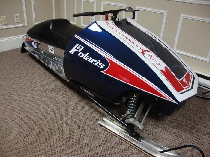Vintage racing snowmobile part