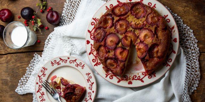I Quit Sugar - Upside-Down Sticky Plum Christmas Cake recipe