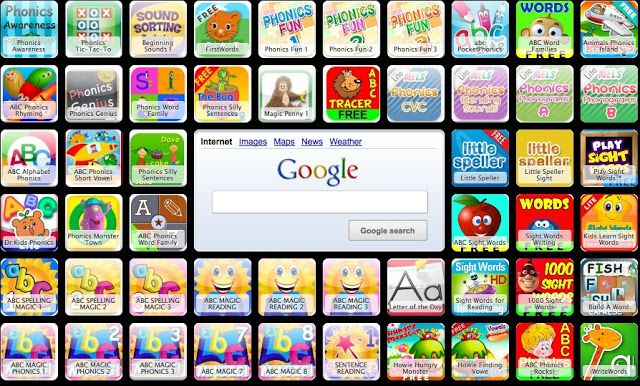 72 free phonics/sight word apps for the iPad!