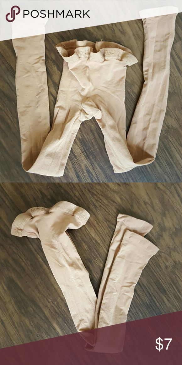 Body Wrappers footless dance tights Tan color. Perfect condition. Worn 1x. Body Wrappers Accessories Hosiery & Socks