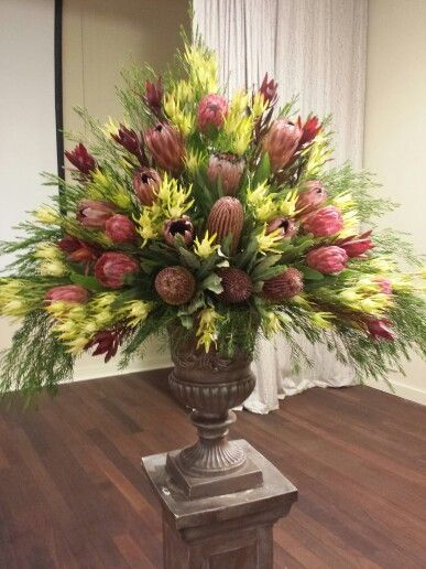 Floral arrangement using native Australian flowers