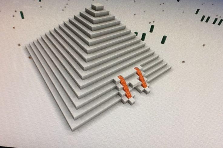 DIY.ORG: Cursed pyramid in minecraft
