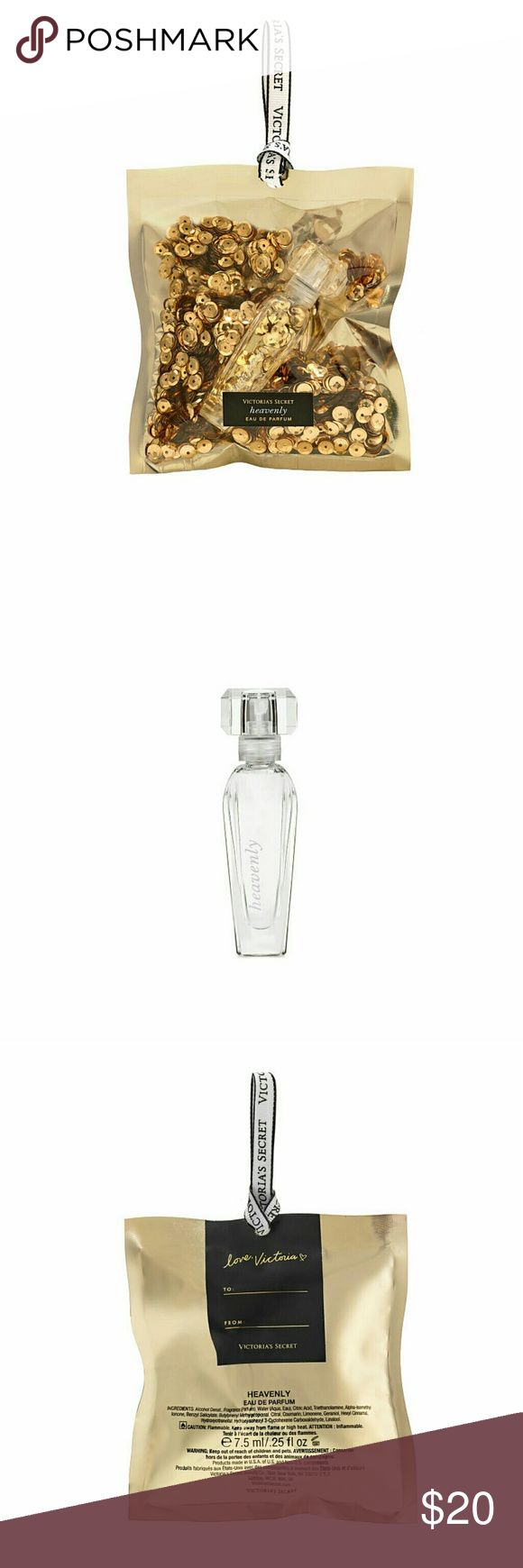 🎁NEW! Heavenly Ornament By Pink Victoria's Secret Product Details  The sexiest way to deck the halls: this dazzling ornament featuring a mini Heavenly eau de parfum.  Fragrance type:  Warm Notes: White Musk, Sandalwood, Vanilla and White Peony Domestic  Includes:  Mini Eau de Parfum: 7.5 ml/.25 fl. oz.  BF-368-766 PINK Victoria's Secret Accessories