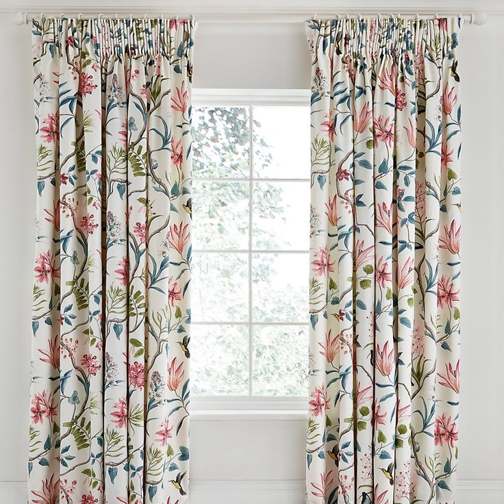 Sanderson Tropical Floral Curtains   Tropical Bedding at Bedeck Home