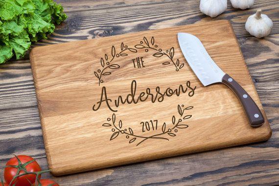 Cutting Board, Custom Cutting Board, Wedding Gift, Personalized, Wood Cutting Board, Anniversary Gift, Personalized, Family Name Board