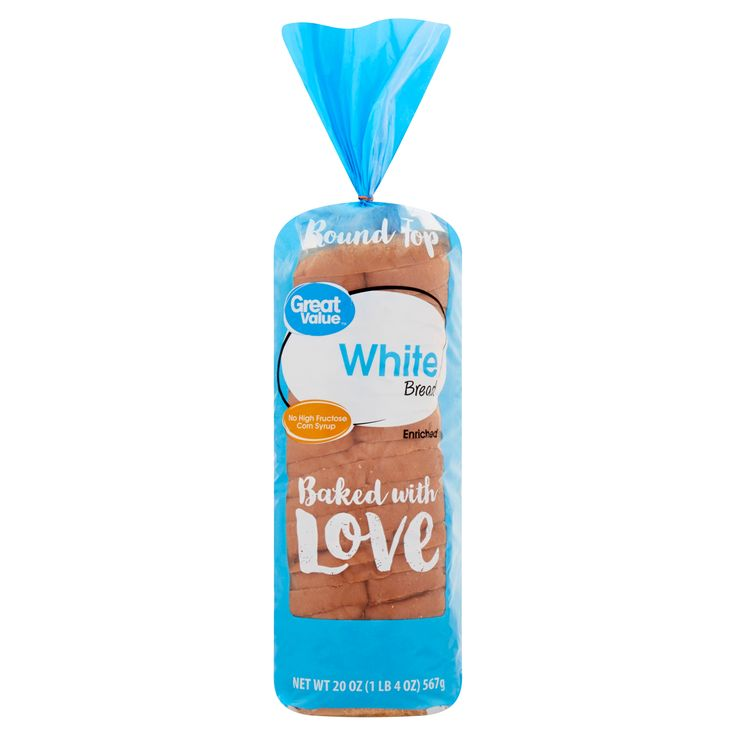 Great Value White Round Top Bread, 20 oz in