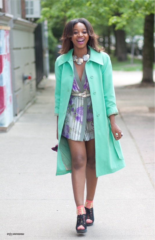 Chicago Street Style - Colored coat!