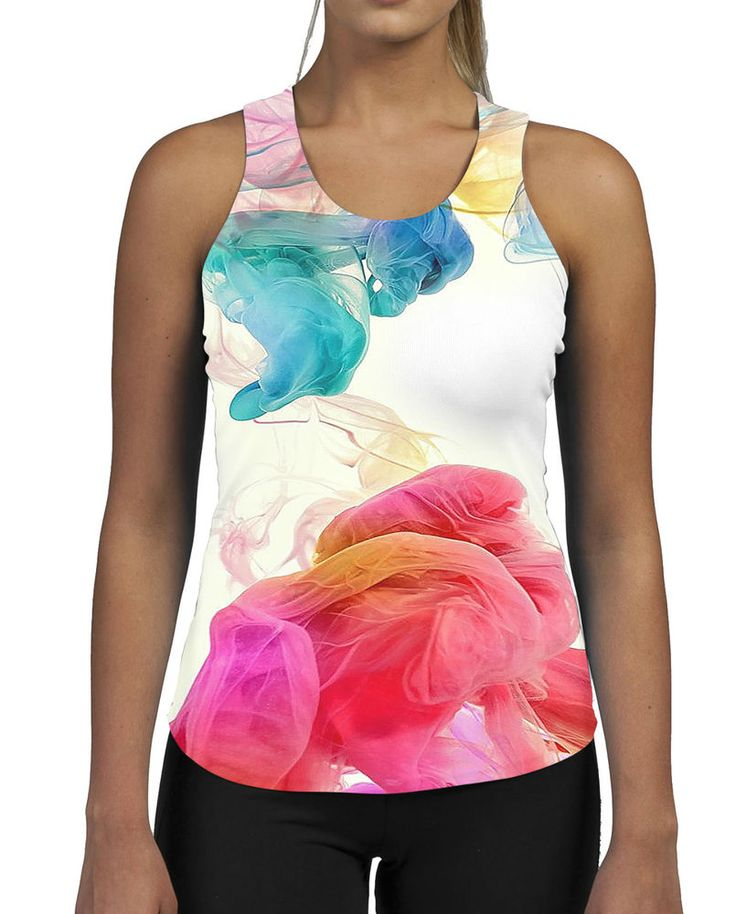 Colour Puff WOMENS GYM TANK Top Vest Ladies Fitness Muscles All Over Pattern in Clothes, Shoes & Accessories, Men's Clothing, T-Shirts | eBay