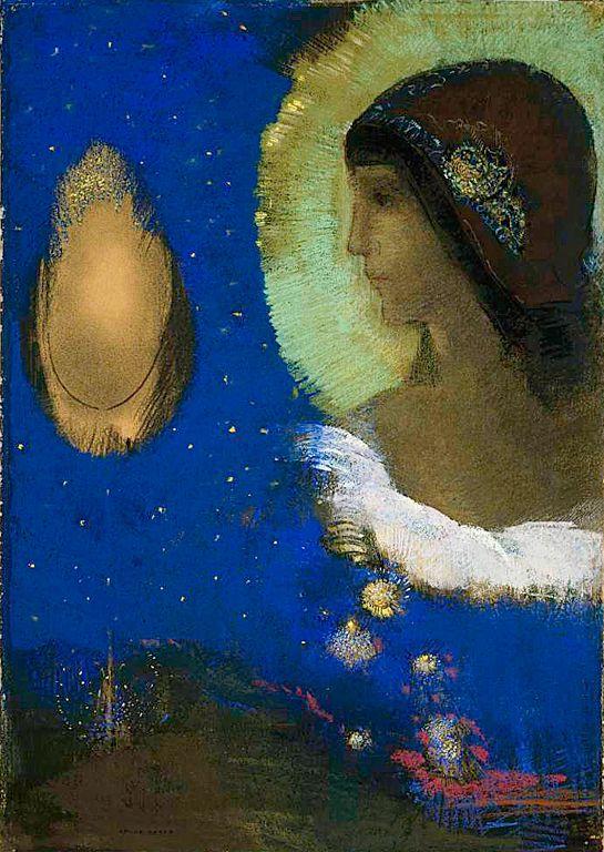 Odilon Redon - Sita. Art Experience NYC www.artexperiencenyc.com/social_login/?utm_source=pinterest_medium=pins_content=pinterest_pins_campaign=pinterest_initial