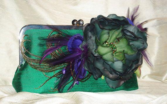 Emerald Green Handbag / Bridesmaid Gift /  by PetiteVintageBags, $90.00