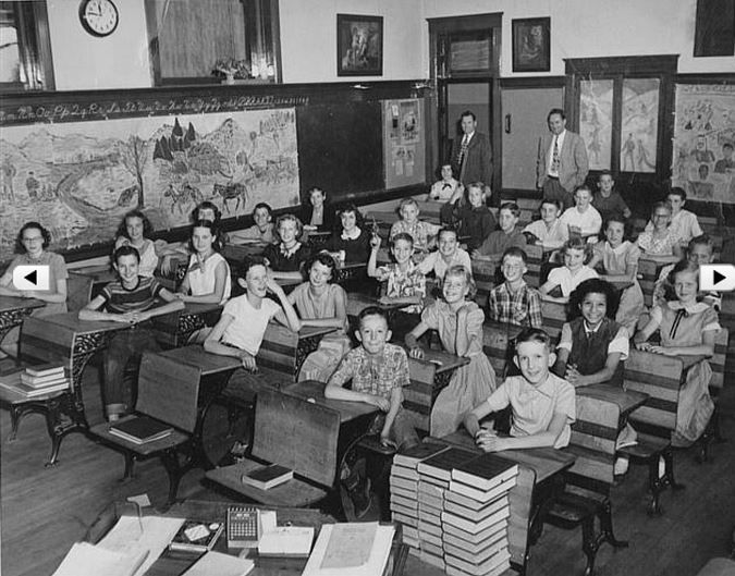1950's school room | school | Pinterest
