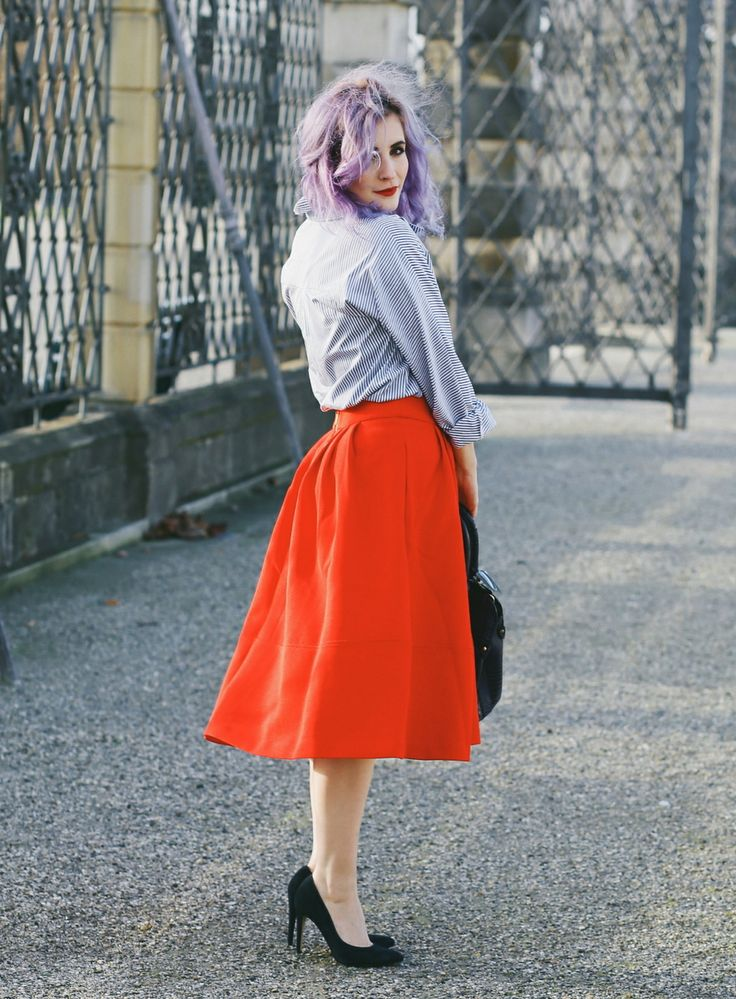 roter Midirock, Midirock kombinieren, 50er Jahre Style, Retro Mode, Retro Fashion Blog, Like A Riot, Summer Outfit, Summer Style, Summer Look, Blogger Style