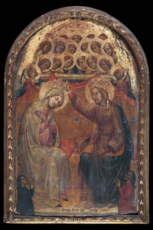 Simone di Filippo, called Simone dei Crocifissi (Bologna, active 1355 – 1399) The Coronation of the Virgin.