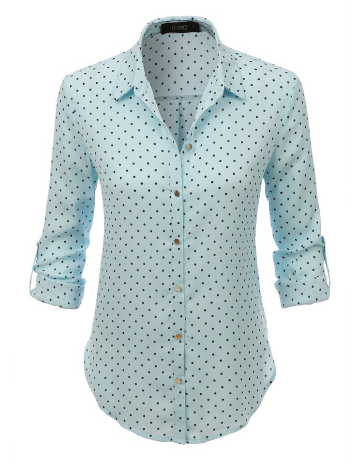 I like the cut of this shirt (but not necessarily the polka dots)