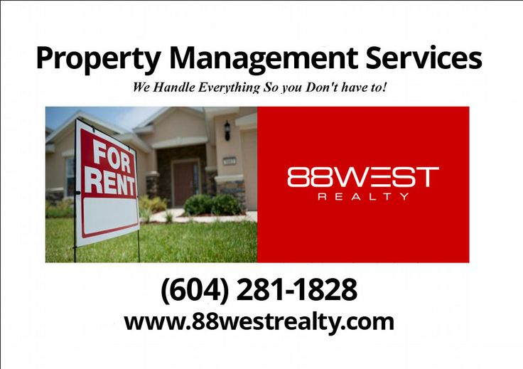 Don't forget! We have a great property management service as well.