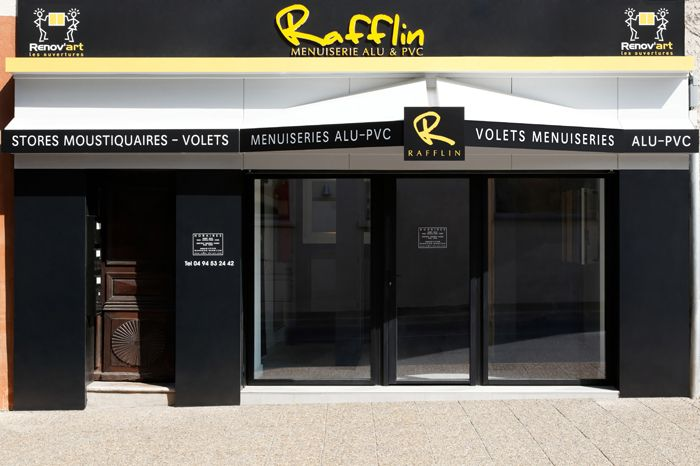 La façade de notre magasin Rafflin Alu & PVC dans le centre ville de Cogolin / The front of our store Rafflin #Aluminium & #PVC in the center of Cogolin  #Menuiserie #Carpentry #SaintTropez #Rafflin