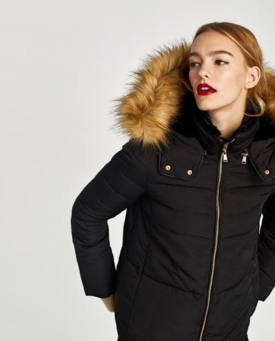 QUILTED JACKET WITH TEXTURED HOOD-View all-OUTERWEAR-WOMAN | ZARA United States