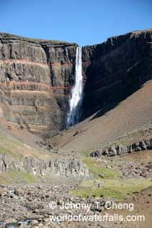 Hengifoss-see the Litlanesfoss waterfall on the hike to see this one