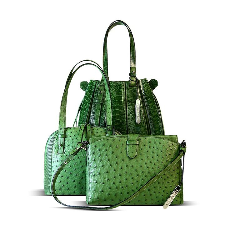 genuine ostrich leather handbags available from the Via La Moda Showroom in Johannesburg
