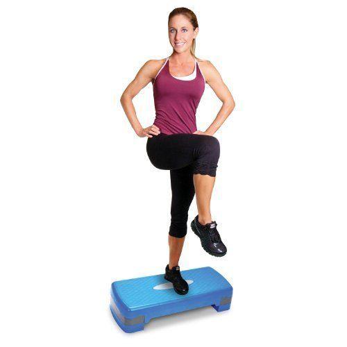 Aerobic Step Platform Workout Adjustable Exercise Non-Slip Tone Fitness Stepper #ToneFitness