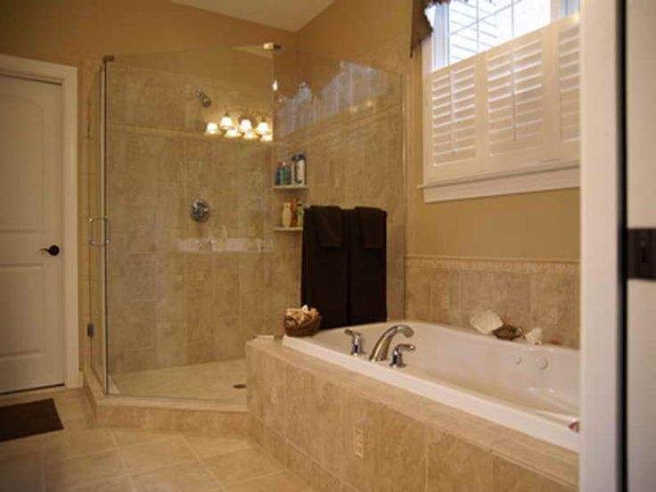Corner Shower Minus The Tub Find This Pin And More On Bathroom Designing Ideas