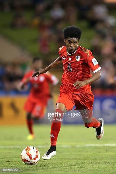 Raed Saleh of Oman in action during the 2015 Asian Cup match between Oman and Kuwait at Hunter Stadium on January 17 2015 in Newcastle Australia