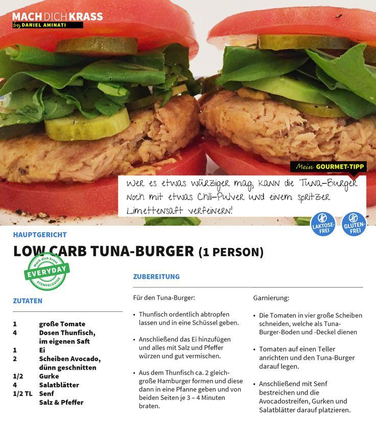 Low-Carb Tuna-Burger: So erfrischend für die heißen Tage!