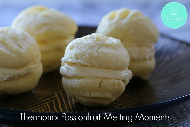 Thermomix Passionfruit Melting Moments - Thermobliss