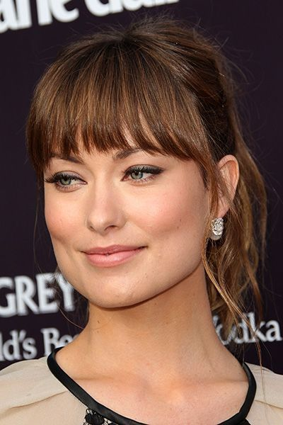How to Find the Most Flattering Bangs for Your Face Shape Hairstyle for me – Olivia Wilde – fringe / bangs with longer sides suited for a square shaped face