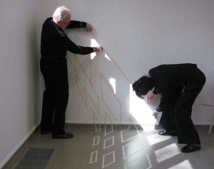 jan dibbets   measuring -> materializing light beams