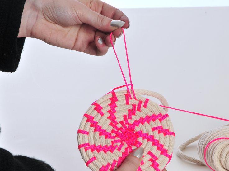 Making Neon Rope Baskets