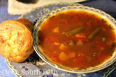 Homemade Vegetable Soup -  a meatless vegetable soup made with a variety of vegetables and a rich vegetable stock.
